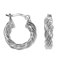 Aluminum Hoop Bamboo Earrings