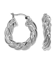 Aluminum Hoop Earrings