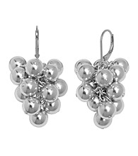 Aluminum Stainless Steel Leverback Ball Earrings