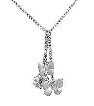 Aluminum Butterfly & Magnolia Necklace