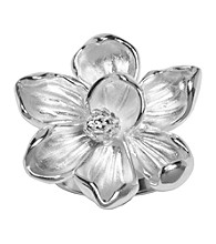 Aluminum Magnolia Flower Ring