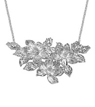 Aluminum Magnolia Flower Necklace