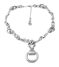 Aluminum Rope & Stirrup Necklace
