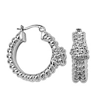 Aluminum Hoop Rope Earrings