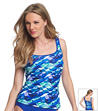 Relativity® Blue Waves Tankini Swimwear Top