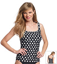 Relativity® Dot Tankini Swimwear Top