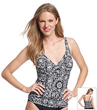 Relativity® Paisley Surplice Swimwear Top