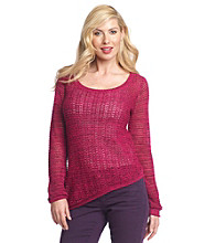 DKNY JEANS® Asymmetric Open-Stitch Sweater