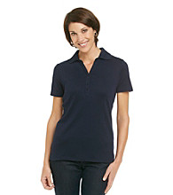 Studio Works® Petites' s Short Sleeve Polo
