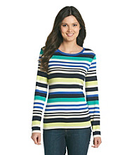 Studio Works® Stripe Long Sleeve Knit Top