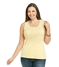 Studio Works® Plus Size Knit Tank