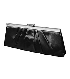 Jessica McClintock® Pleated Satin Frame Clutch