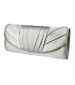 Jessica McClintock® Tuxedo Pleated Satin Clutch