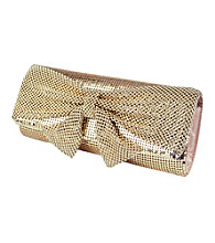 Jessica McClintock® Mixed Mesh W/Knotted Bow Clutch