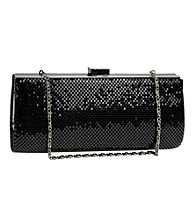 Jessica McClintock® Black Metal Mesh Slim Clutch