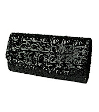 Jessica McClintock® Black Sequin Clutch