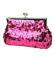 Jessica McClintock® Paillette Kisslock Frame Clutch