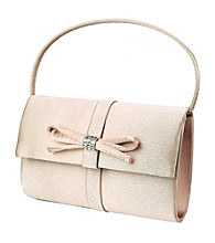 Jessica McClintock® Top Handle Satin Bag