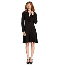 Karen Kane® Black Cowlneck Dress