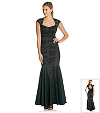 Xscape Long Taffeta Gown