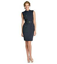 Calvin Klein Contrast Lined Miliary Inspired Dress