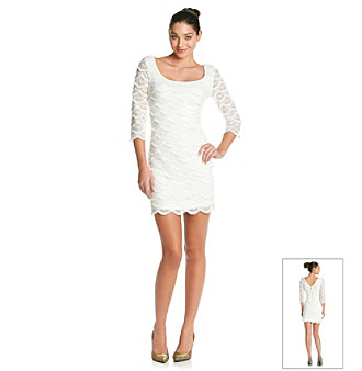 Guess Scalloped Lace Dress