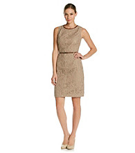Anne Klein® Lace Sheath Dress with Darts