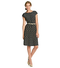 Anne Klein® Dot Print Swing Dress