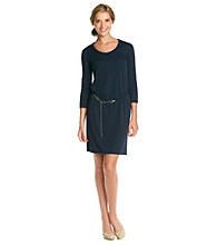 Anne Klein® T-Shirt Dress With Chain Belt