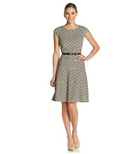 Anne Klein® Texture Wave Swing Dress