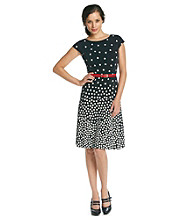 Anne Klein® Ombre Dot Swing Dress