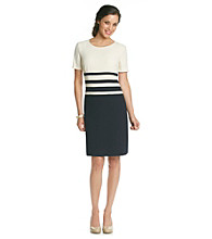 Anne Klein Honeycomb Fade Dress