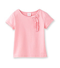 Little Miss Attitude Girls' 2T-6X Solid Self Bow Tee