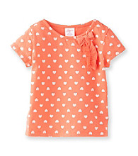Little Miss Attitude Girls' 2T-6X Heart Self Bow Tee