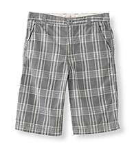 Mambo® Boys' 8-16 Plaid Flat Front Shorts