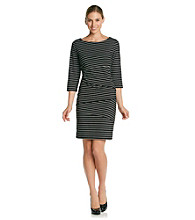 Ronni Nicole® Stripe Ponte Dress