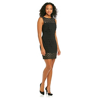 London Times® Lace Shutter Dress