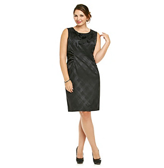 R & M Richards Plus Size Jacquard Dress
