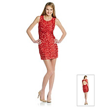 Trixxi® Juniors' Red Lace Dress