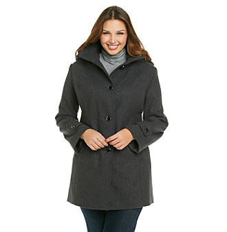 Kenneth Cole® Plus Size Fit And Flare Pantcoat