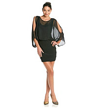 Cachet® Cold-Shoulder Dress