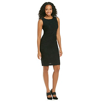 Calvin Klein Petites' Textured Sleeveless Dress
