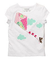 OshKosh B'Gosh® Girls' 2T-4T White Short Sleeve Kite Tee
