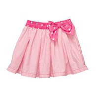 OshKosh B'Gosh® Girls' 2T-4T Pink/White Striped Woven Skort