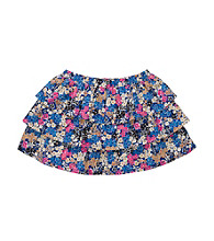 OshKosh B'Gosh® Girls' 2T-4T Blue Floral Tiered Skort