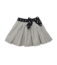 OshKosh B'Gosh® Girls' 2T-4T Navy/White Striped Woven Skort