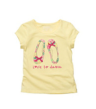 OshKosh B'Gosh® Girls' 2T-4T Yellow Short Sleeve Shoe Tee