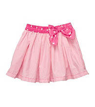 OshKosh B'Gosh® Girls' 4-6X Pink/White Striped Woven Skort