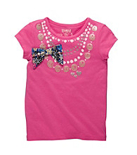 OshKosh B'Gosh® Girls' 4-6X Pink Short Sleeve Necklace Tee