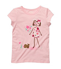 OshKosh B'Gosh® Girls' 4-6X Pink Short Sleeve Girl Tee